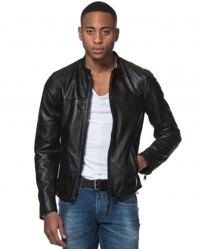 RPL Leather Jacket Replay skinnjacka till herr.