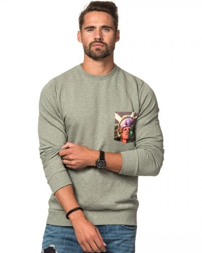Revolution RVLT Printed Pocket Sweat Green