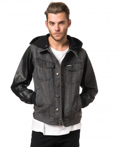 Somewear Sean Penn Black/PU Denim Jacket
