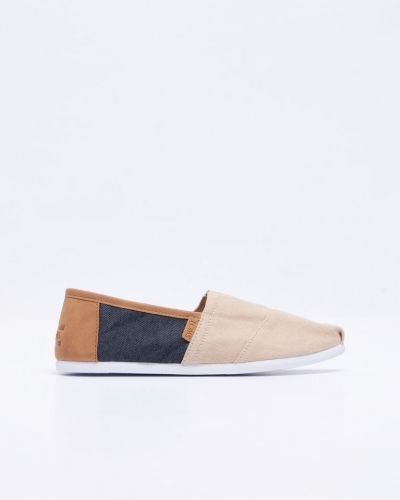 Seasonal Classic Natural Hemp / Navy TOMS espadrillos till herr.