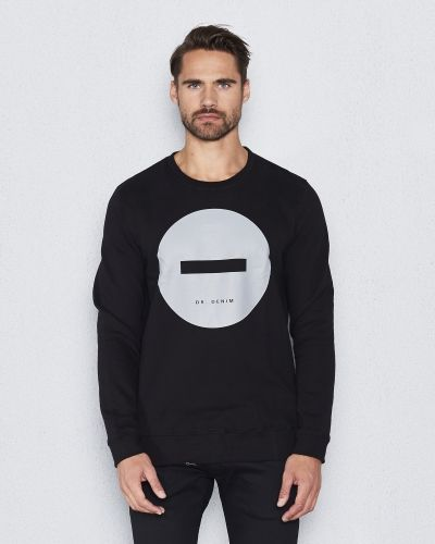 Sweatshirts Smith Sweater Black Circle från Dr.Denim