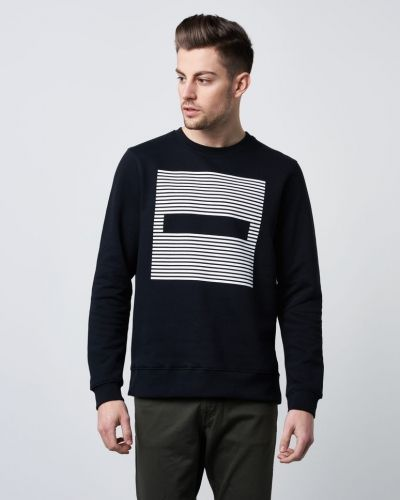 Dr.Denim Smith Sweater Black Stripes Dash