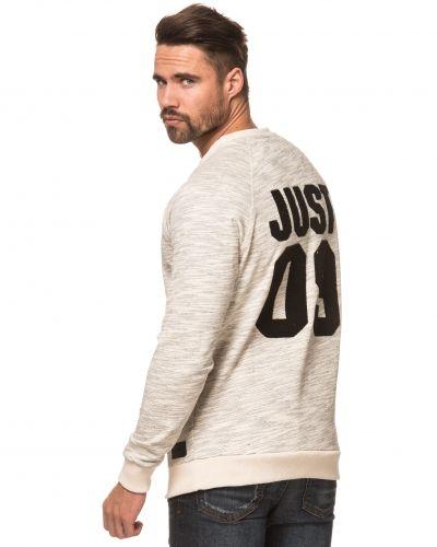 Till killar från Just Junkies, en grå sweatshirts.