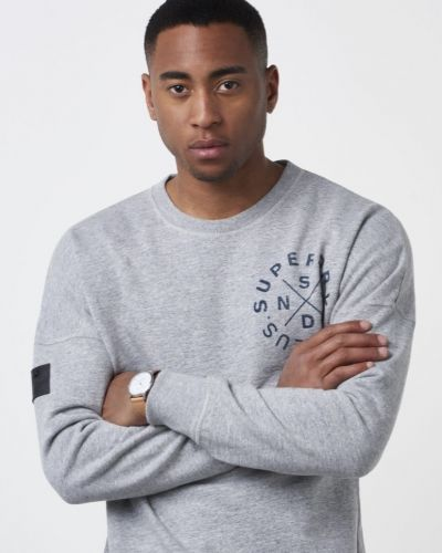 Surples Low Rider Crew Huddson Grey Superdry sweatshirts till killar.