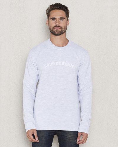 Vit sweatshirts från Les Deux till killar.