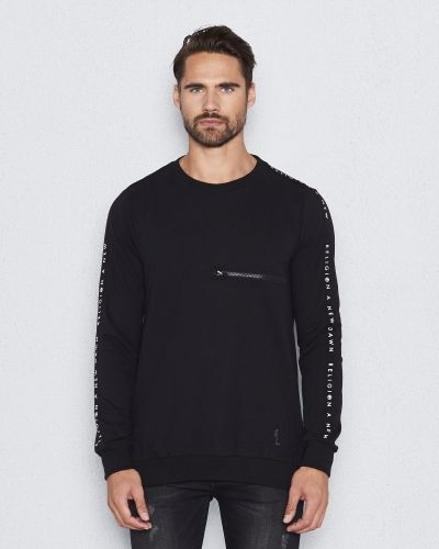 Sweatshirts Taped NTT Black från Religion
