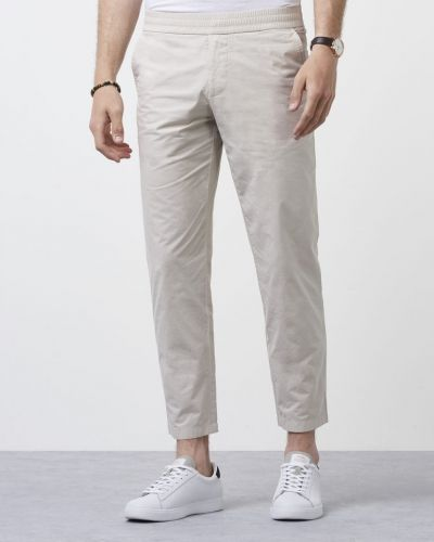 Chinos Terry Cropped Pants Silver från Filippa K