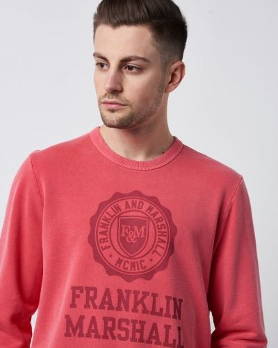 Sweatshirts Washed Logo Sweat Campus från Franklin & Marshall
