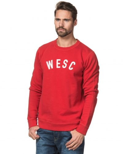 Sweatshirts WeSC Crewneck Pompeian Red från WeSC