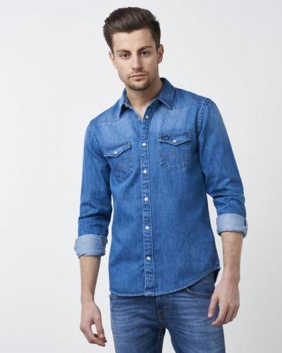 Western Shirt Dark Wrangler jeansskjorta till herr.