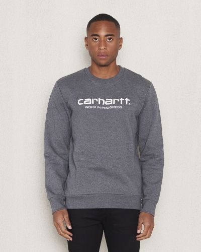 Carhartt Wip Script Sweatshirt Dark Grey Heather/White