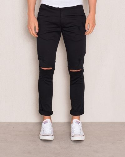 William Baxter Zack Cropped Chino Black Ripped