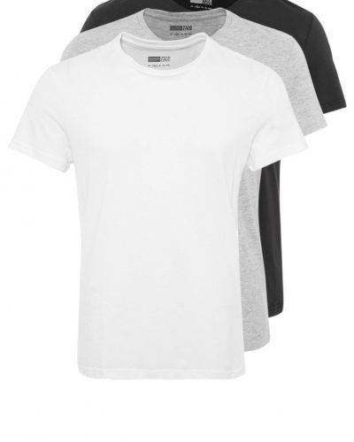 Pier One 3 PACK Tshirt bas white/black/grey Pier One nattplagg till herr.