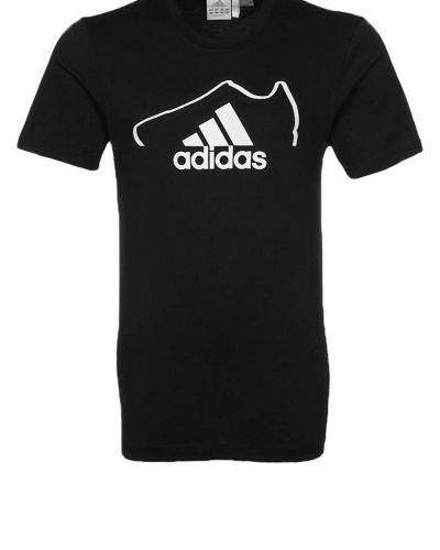 adidas Performance ADISNEAKER Tshirt med tryck Svart från adidas Performance, Kortärmade träningströjor