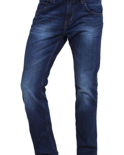 Aedan jeans straight leg dark stone wash denim Tom Tailor Denim straight leg jeans till dam.