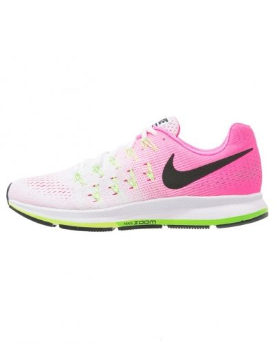 Löparsko Nike Performance AIR ZOOM PEGASUS 33 Neutrala löparskor white/black/pink blast/electric green från Nike Performance
