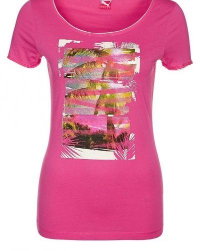Puma BEACH FUN Tshirt med tryck Ljusrosa från Puma, Kortärmade träningströjor
