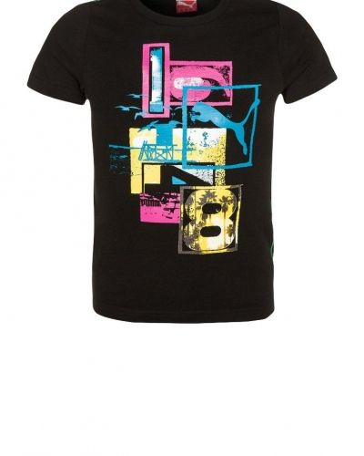 Puma BEACH FUN Tshirt med tryck Svart från Puma, Kortärmade träningströjor