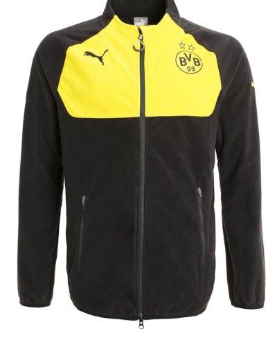 Borussia dortmund fleecejacka black/cyber yellow Puma fleecejacka till dam.
