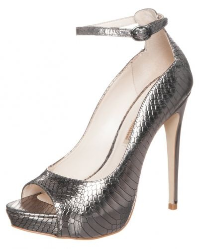 Buffalo Buffalo Peeptoes serpente new metallic pewter