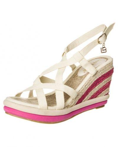 Beige högklackade sandal från Laura Biagiotti till dam.