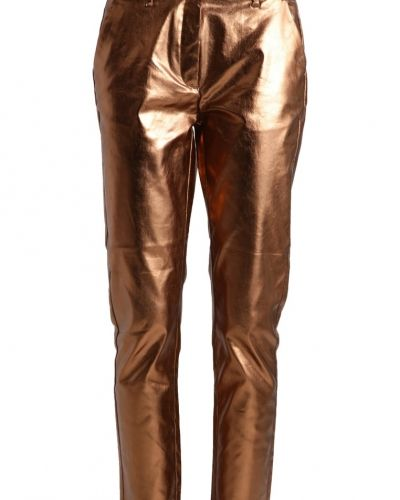 2ndOne Carine chinos metallic bronze