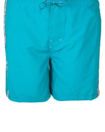 Calvin Klein Swimwear CK ONE LOGO TAPE Surfshorts Turkos - Calvin Klein Swimwear - Badshorts