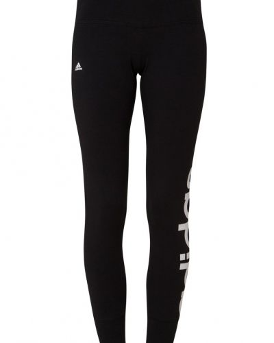 Essentials linear tights black/white adidas Performance träningstights till dam.