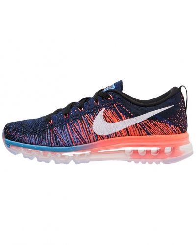 Flyknit max neutrala löparskor black/white/blue glow/bright mango/deep royal blue Nike Performance löparsko till mamma.