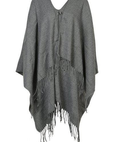 Fringe poncho warm grey New Look cape till dam.