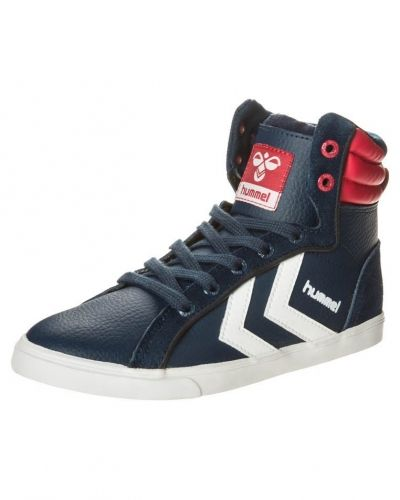 Blå höga sneakers från Hummel till barn.