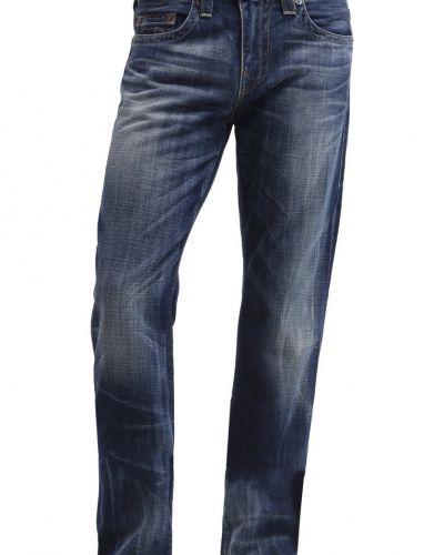 Geno jeans slim fit destroyed denim True Religion jeans till dam.