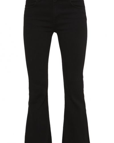 Bootcut jeans 2ndOne JANELLE Flared jeans satin black från 2ndOne