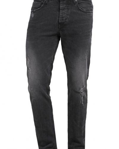 Jeans relaxed fit black washed Tiffosi loose fit jeans till dam.