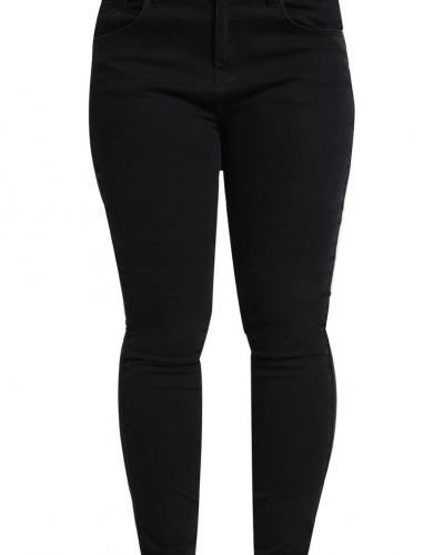 Jeans slim fit black denim Zalando Essentials Curvy slim fit jeans till dam.