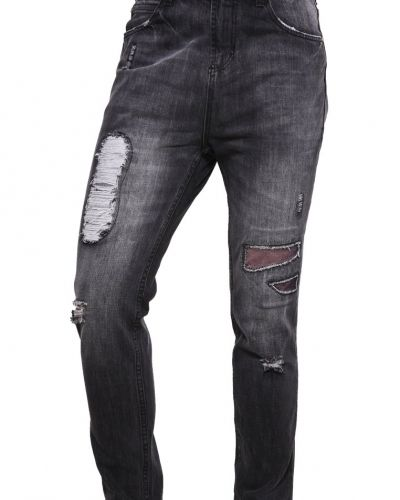 Jeans tapered fit washed black YOUR TURN slim fit jeans till dam.