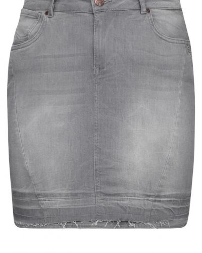 Zizzi Zizzi Jeanskjol grey denim
