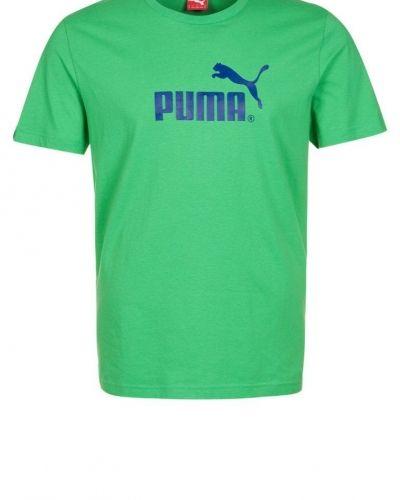 Puma LARGE NO 1 Tshirt med tryck Grönt från Puma, Kortärmade träningströjor