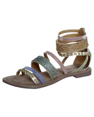 Lazamani Sandaler med skaft Guld Lazamani sandal till dam.