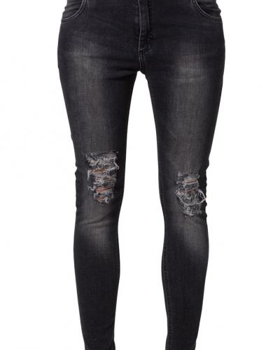 Slim fit jeans 2ndOne LILY Jeans slim fit ripped grey från 2ndOne