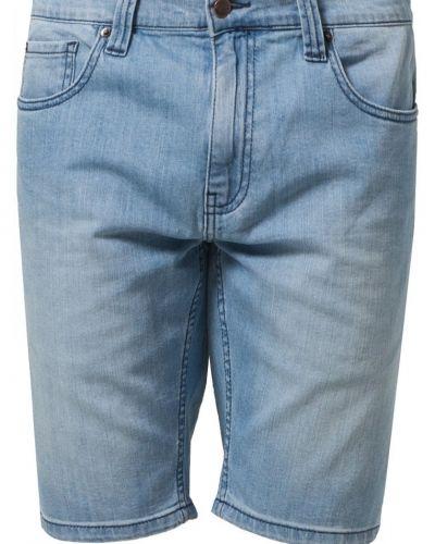Till killar från Dickies, en blå jeansshorts.