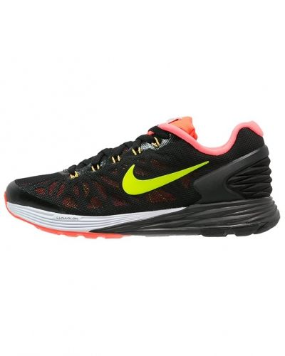 Lunarglide 6 löparskor dämpning black/volt/gym red/white Nike Performance löparsko till mamma.