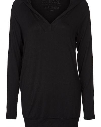 Curare Yogawear Luvtröja svart Curare Yogawear hoodie till dam.