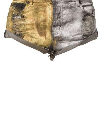One Teaspoon METAL BANDITS Jeansshorts Guld One Teaspoon jeansshorts till dam.