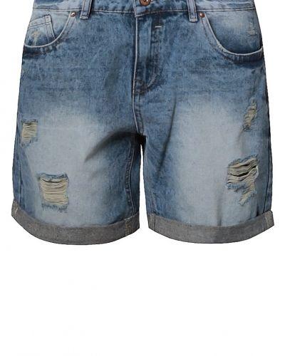 New Look New Look MOTTLED Jeansshorts blå