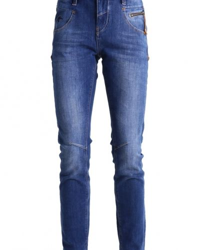 Nelly freedom jeans slim fit blue Mos Mosh slim fit jeans till dam.