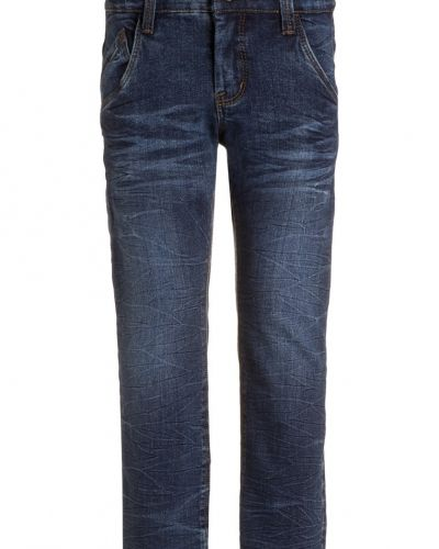 Nitras roll jeans slim fit dark blue denim Name it jeans till dam.