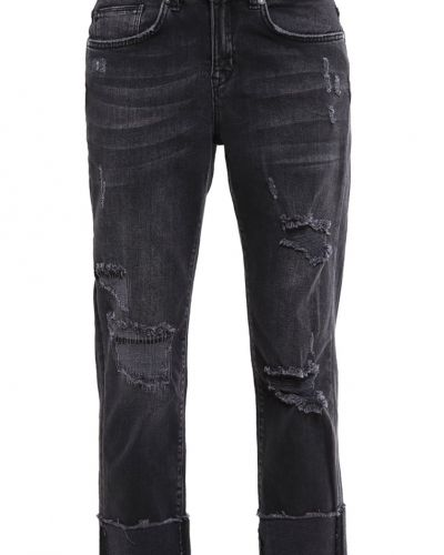 Onlshawn jeans straight leg black ONLY straight leg jeans till dam.