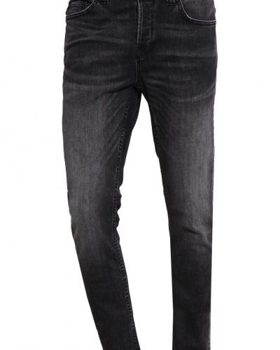 Onsloom jeans slim fit dark grey denim Only & Sons slim fit jeans till dam.