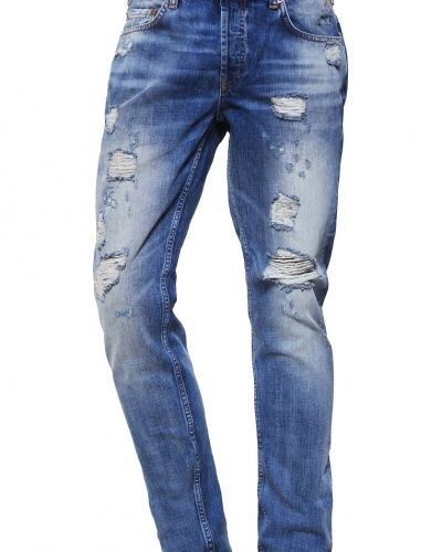 Onsweft jeans straight leg medium blue denim Only & Sons straight leg jeans till dam.